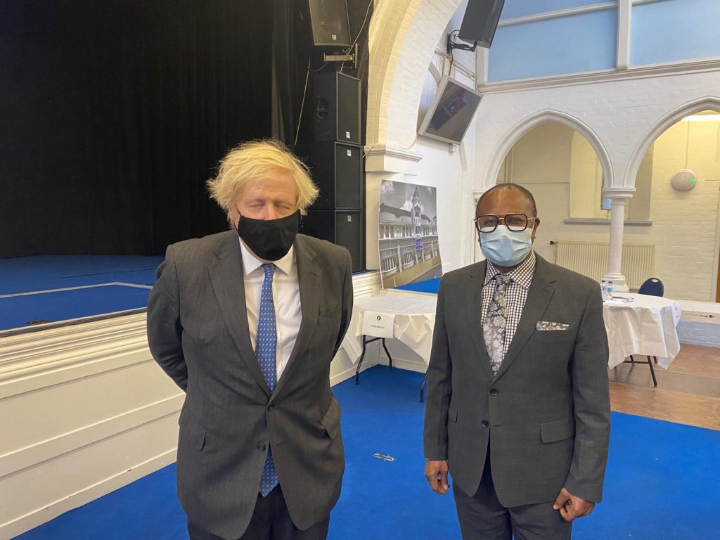 Slcss CEO with the Prime minister. Boris Johnson